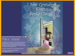 Book cover for I saw Grandma Kissing Santa Claus