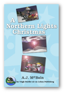 Book cover for book one of the Little Tracker Christmas series, A Northern Lights Christmas