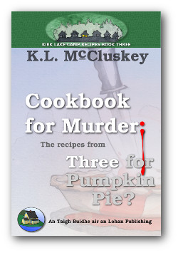Cookbook for Murder: Recipes from Three for Pumpkin Pie? book cover.